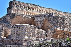 Codz Poop palace, Kabah (orientalizing) Tags: 6001000ad altarofglyphs archaia architecture codzpoop codzpooppalace glyphs kabah mayaclassic mayan mexico northamerica palaceofthemasks puucstyle reliefs sculpture terminalclassic yucatan