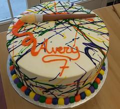 splatter (1) (backhomebakerytx) Tags: cake birthday kid painter paint splatter 7th art colorful backhomebakery