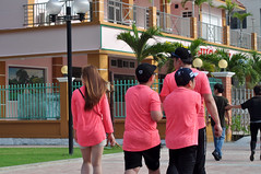 In the pink (Roving I) Tags: tourists tshirts matching pink quartets friends family walking caps seafront restaurants danang vietnam