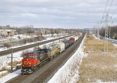 CN and CREX power (Michael Berry Railfan) Tags: cn canadiannational cn369 train freighttrain kingstonsub pointeclaire montreal quebec ge generalelectric crex1515 crex citirail es44ac gevo ic2699 illinoiscentral dash9 dash944cw