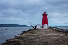 Poolbeg Lighthouse (Carmel..) Tags: sky clouds blue water sea poolbeglighthouse thegreatsouthwall outdoor red stone dublin ireland