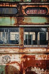 Not in Service (dscharen) Tags: foxrivertrolleymuseum sanfranciscomunicipalrailway muni trains streetcar pcc southelgin illinois frtm trolley abandoned stlouiscarcompany saintlouiscarcompany 1030 sfmunicipalrailway sfmr1030