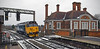 Hoovering up the white stuff; 50049 at Market Harborough (robmcrorie) Tags: 50049 defiance class 50 train rail railway east midlands trains market station midland main line snow plough 0z99 nikon d7500 h its little ploughs harborough