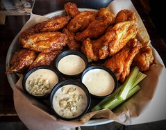 Hot Wings - The Session Room - Omaha, NE (In Explore 03/06/18) (vwcampin) Tags: buffalowings celery iphoneographer iphoneography iphoneology iphonology food meal nebraska omaha thesessionroom ranch bleucheese bluecheese chickenwings bbqwings hotwings appetizer wings