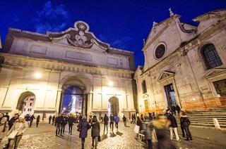 Roma :Porta del Popolo e S.Maria del Popolo