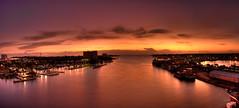 Sunrise, Nassau Harbour, Nassau, Bahamas (shanepinder) Tags: sunrise panoramic pano horizontal ocean sea water sky clouds morning dawn early nassau bahamas harbour harbor boats buildings peace peaceful tranquil tranquility newprovidence