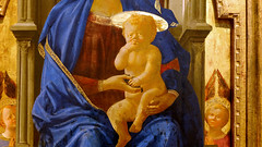 Masaccio, The Virgin and Child, detail with Child