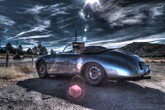 Emory Special And A Speedster (Spebak) Tags: spebak canon canondslr canon70d 20mmlens 20mm winter porsch emory special speedster solarflare hdr morning sun clouds sky bluesky