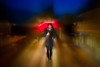 May the force be with you (RCARCARCA) Tags: highstreet blur 5diii stalbans people photoartistry pedestrians scarf umbrella revamped model canon woman 70200l red
