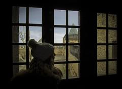 La ciudadela (Ál Men-chez) Tags: francia ciudadela de carcasona castillo retrato contraluz mirada ventana