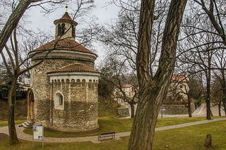 A round building of St. Martin from the end of the 11th century in Vyšehrad