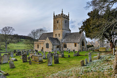 Snowdrops by the church (Gwenael B) Tags: church snowdrops perceneige cotswolds uk countryside architecture cemetery nikond5200 tokinaaf1120mmf28 wideangle picturesque campagne eglise