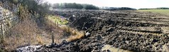 Shocking (Rhubus) Tags: soil dirt rubble oil plastics tyres illegal dodgy tip tipping dumping hazardous wrong bad