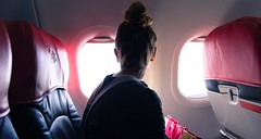 This Woman Was Apparently Kicked Off A Flight Because Of Her Period Pain (Naser Ch) Tags: apparently flight kicked pain period womanairvehicleairplanedayglassmaterialhairbunjourneyleisureactivitylifestyleslookingthroughwindowmodeoftransportonepersonpassengerrealpeopleredshoppingbagtransparenttransportationtraveltravelingvehicleinteriorvehiclese