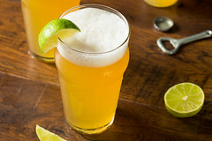 Alcoholic Refreshing Mexican Beer with Lime (brent.hofacker) Tags: alcohol alcoholic ale background bar beer beerwithlime beverage booze bottle celebration chilled citrus cocktail cold condensation cool drink drunk food fruit glass golden green ice lager lime liquid liquor mexican mexicanbeer party pilsner refreshing refreshment summer tropical wedge wet yellow