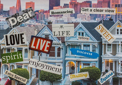 Paper Crafts (Jill Clardy) Tags: mosaic paper art card magazine clippings words philosophy wordart greeting hobby create creative craft crafting 365the2018edition 3652018 day62365 03mar18 san francisco painted ladies victorian homes architecture alamo square