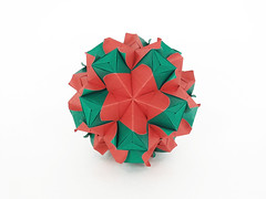 Nananthus (masha_losk) Tags: kusudama кусудама origamiwork origamiart foliage origami paper paperfolding modularorigami unitorigami модульноеоригами оригами бумага folded symmetry design handmade art
