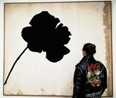 Jannis Kounellis - senza titolo (rosa nera) 1964 (giosuèbolis) Tags: arte kounellis milano 900 museo del novecento pop rock slayer pittura quadri fatta con smartphone