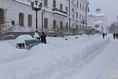 02. Зима в Святых Горах. Уборка снега 23.01.2018