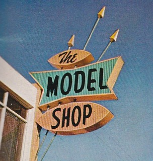 The Model Shop Plastic Sign - Circa 1962