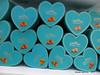 Boxes of Habbeh Lognmeh - Mehromah Complex Qom Iran (WanderingPJB) Tags: accumulation blue flickruploaded iran islamrepublic qom mehromahcomplex souvenirs box habbehlognmeh sweets 7dwf crazytuesdaytheme hearts