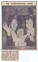 The Dagenham Girl Pipers. (Paris-Roubaix) Tags: lily gibbs alma benn esther morton dagenham girl pipers vintage newspaper cuttings pipe band tartan sporrans