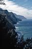 Na Pali Coast, Kauai - Kodachrome - 1986 (Ron of the Desert) Tags: film slidefilm positivefilm reversalfilm kodak kodachrome hawaii kauai napalicoast coastline cliffs ocean epsonperfectionv600