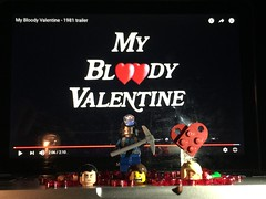 LEGO My Bloody Valentine (splinky9000) Tags: lego my bloody valentine horror movie harry warden 1981 recreation reenactment diorama minifigures toys severed heads blood heart trailer arms