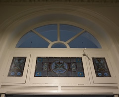 Section of the original front door of St Peters Town Hall, South Australia (contemplari1940) Tags: town hall st peters banquet civic centre rowlandrees architect charleswrutt frankgeorge builder wbannister contractor ligertwoodpark