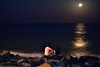 Moonlit Love (Joy lens) Tags: moonlit love night romantic romance lunar moon india sea beach