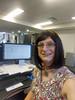 My Desk (justplainrachel) Tags: justplainrache rachel cd tv crossdresser transvestite selfportrait selfie dress from foral print libertyprint desk work computer screen it monitor training
