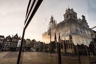 Sunrise over Delft