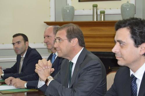 O Presidente do Partido Social Democrata recebe o Presidente da Eslovénia.