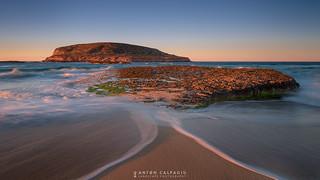 Puesta de sol en Cala Conta  para recordar el flickero Joan Costa