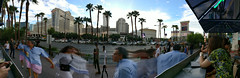 when people move through your panorama (n.a.) Tags: palm trees strip las vegas nevada usa panorama movement people