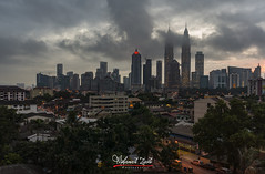 Fog In The City (Mohamad Zaidi Photography) Tags: calm skyline clouds working urban district banking business city eyelevel architecture development sunrise mist foggy blue office night kuala lumpur malaysia landmark downtown asia modern landscape view building travel tower cityscape skyscraper sky