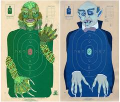 Creature & Vampire (nejjiferdavis) Tags: creature vampire shootingtarget jenniferdavis movie monsters painting illustration art color