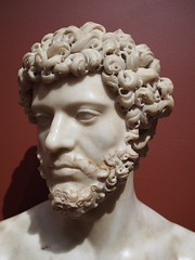 Marble bust of The Emperor Lucius Verus (procrast8) Tags: kansas city mo missouri nelson atkins museum art marble bust emperor lucius verus sculpture