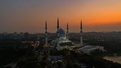 An Aerial view of Shah Alam Mosque during sunrise (Mohamad Zaidi Photography) Tags: malaysia sunrise shahalam selangor aerial dji djiphantom phantom4pro malaysianphotographer mosque islam islamic pray faith minaret dome