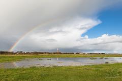 Rainbow cover! (karindebruin) Tags: holland ouddorp goereeoverflakkee zuidholland thenetherlands rainbow regenboog reflectie reflection lighthouse vuurturen