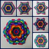 Psychedelic spread hexagon tessellation (mimansaorigami) Tags: origami paperfolding tessellations hexagonorigami hexagonalsymmetry radialsymmetry symmetry colours rainbow