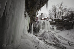 Powered by Winter (wilbias) Tags: decew falls morningstar mill st catharines waterfall ice freeze icicles wide angle long exposure cloudy winter niagara escarpment