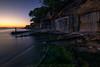 Waiting for the summer (el vuelo del escorpión) Tags: mar sea mediterraneo mediterranean sunset dusk blue golden island baleares balearic winter invierno sundaylights