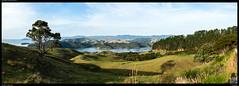 Manaia Road Saddle and Lookout (Falcdragon) Tags: sonya7riialpha sonyzeisssonnarfe1855mmza newzealand landscape coromandel panorama evening light ilce7rm2