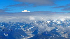 Hiding behind the clouds (Denali) (PDX Bailey) Tags: landscape sky aerial snow mountain denali alaska blue