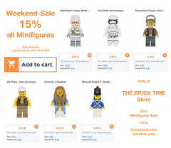 Weekend Sale 15% on Minifigures (THE BRICK TIME Team) Tags: lego minifigures sale action discount 15 march weekend starwars pirates castle