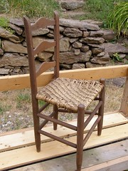 The Old Chair (Melinda Stuart) Tags: chair history seat handmade woven fiber weaving pattern wnc nc craft folk handcraft stonewall stone rock
