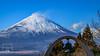 Bells at Fuji (fentonphotography) Tags: japan mountfuji snowcappedmountains landscape amazingviews bluesky blowingsnow trees