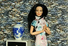 birdy in traditional cheongsam (photos4dreams) Tags: photos4dreams dress barbie mattel doll toy p4d photos4dreamz barbies girl play fashion lila purple asian chinese dolldesigner handpainted handmade ooak oneofakind custom repaint chinagirl birdy upgrade design