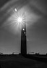 Washington Monument Flare (John Kocijanski) Tags: washingtondc washingtonmonument sun sunflare blackandwhite sky building canon18135mmstmlens